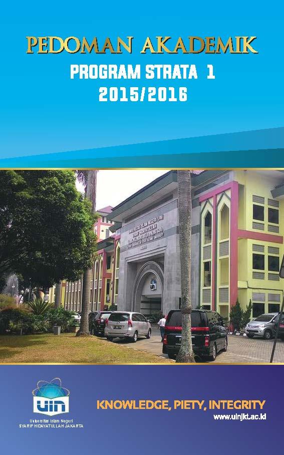 Cover Pedoman Akademik 2015-2016 UIN Syarif Hidayatullah Jakarta
