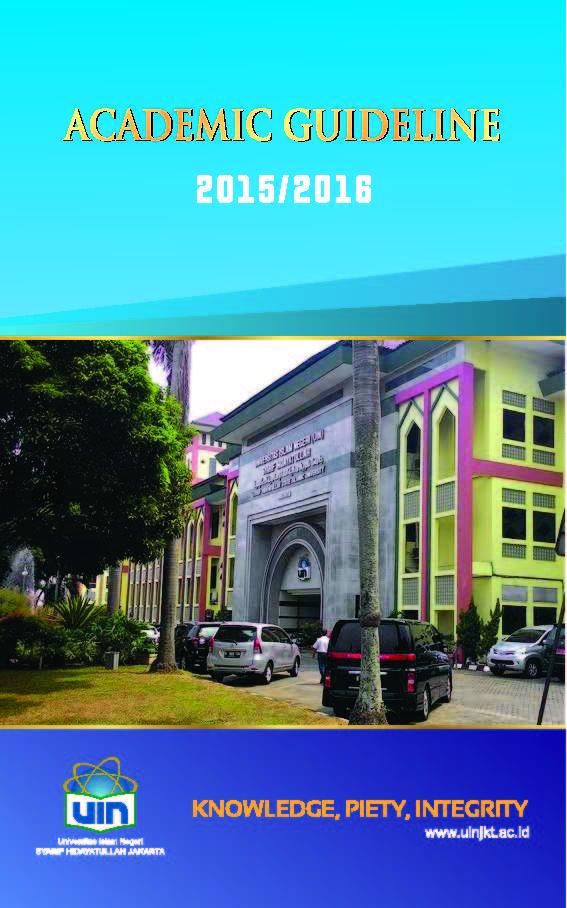 Cover Academic Guide 2015-2016 of UIN Syarif Hidayatullah Jakarta