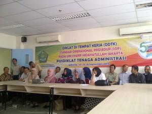 UIN Jakarta Gelar Diklat Di Tempat Kerja