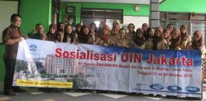 Berfose sesaat setelah Sosialisasi UIN Jakarta di SMK PGRI 3 Madiun