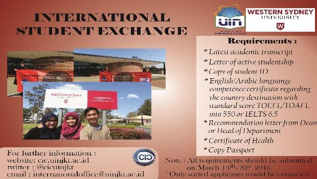 International Student Exchange 2016