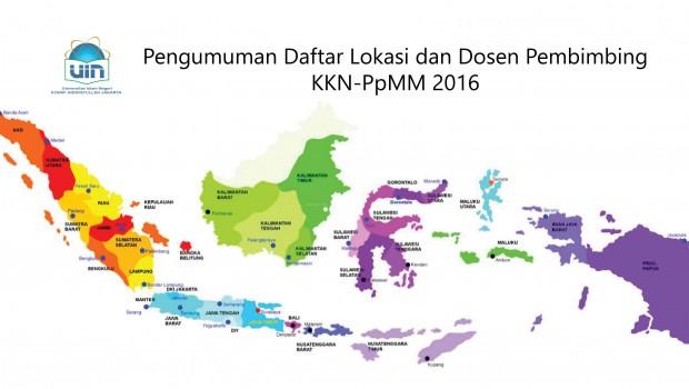 DAFTAR LOKASI & NAMA DOSEN PEMBIMBING KKN-PPM TAHUN 2016