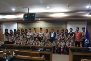 Rektor Lepas Kontingen Pramuka UIN Jakarta