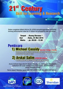 Workshop Skill for Learning and Research Digelar Sheridan College Canada di UIN Jakarta