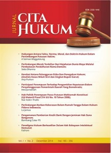 Three scientific journals in UIN Syarif Hidayatullah Jakarta, Jurnal Cita Hukum, Jurnal Signifikan, Ahkam: Jurnal Ilmu Syariah receive accreditation from the Ministry of Research, Technology and Higher Education.