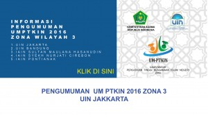 informasi Pengumuman kelulusan UMPTKIN 2016 zona 3