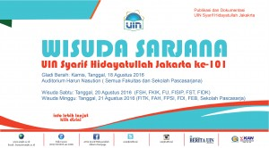 UIN Jakarta Akan Menggelar Wisuda Ke-101