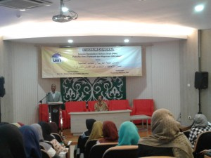 Jurusan Pendidikan Bahasa Arab (PBA) Fakultas Ilmu Tarbiyah dan Keguruan (FITK) UIN Jakarta menggelar Stadium General Bahasa Arab di Aula Teater FITK pada Kamis (15/9).