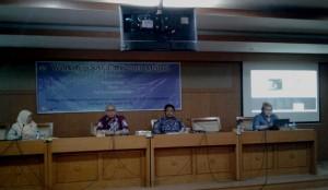 Lembaga Penelitian dan Pengabdian kepada Masyarakat (LP2M) bekerjasama dengan Perpustakaan Utama UIN Jakarta menggelar workshop 'SAGE Research Methods' di ruang diorama, Selasa, (06/09).