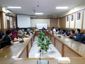 Rektor UIN Jakarta didampingi para warek dan sejumlah pejabat, sambut 11 Delegasi Muslim Mindanao Filipina di RSU Lantai II, Kamis (15/9/16)