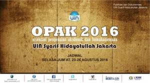Orientasi Pengenalan Akademik dan Kemahasiswaan (OPAK) 2016