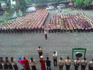 Pramuka UIN Jakarta Gelar Festival Kepramukaan