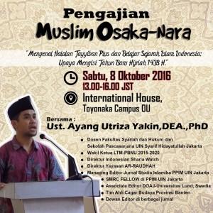 Komunitas Muslim Osaka Undang Dosen UIN Jakarta Bicara Produk Halal Plus