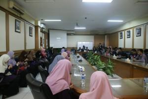 Delegasi dari University Sains Islam Malaysia (USIM) melakukan lawatan ilmiah ke UIN Jakarta. Rabu, (26/10).