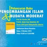 Peluncuran Buku Pengembangan islam dan Budaya Moderat