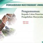 Pengumuman Calon Penerima Pengabdian Masyarakat Award 2016