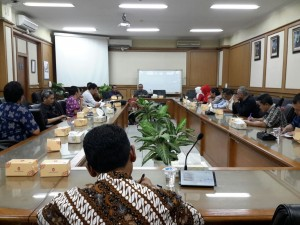 The meeting between UIN Jakarta and PT Telkom, Tuesday (10/4)