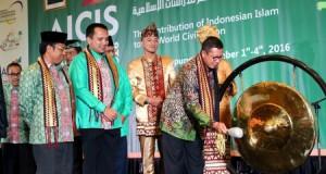 Menteri Agama RI Lukman Hakim Syaifuddin secara resmi membuka konferensi internasional Annual International Conference On Islamic Studies (AICIS) ke-16. Bertempat di Ballroom Hotel Novotel Bandar Lampung, Selasa (1/11).