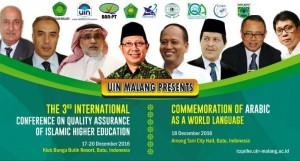 UIN Maulana Malik Ibrahim Malang akan menjadi tuan rumah Konferensi Internasional Penjamin Mutu Pendidikan Islam. Konferensi yang ketiga ini adalah hasil kerjasama dengan UIN Syarif Hidayatullah Jakarta dan BAN PT, serta akan dihelat selama empat hari, Minggu-Selasa (17-20/12).