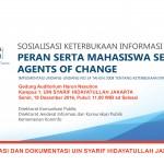 Sosialisasi Keterbukaan Informasi Publik, Peran Serta Mahasiswa Sebagai Agents Of Change2
