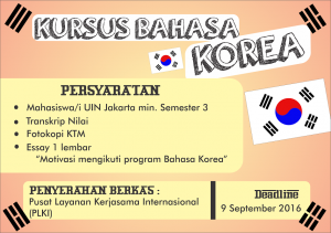 The Admission For 2016 Korean Language Course is Officially Closed