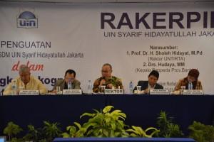 Rektor: 3 Stressing Point Rakerpim UIN Jakarta 2017