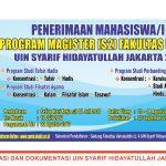 Penerimaan Mahasiswa Baru Program Magister Fakultas Ushuluddin