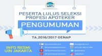 Dokumen SKRektor Peserta Lulus Seleksi Profesi Apoteker UIN Jakarta 2016/2017 […]