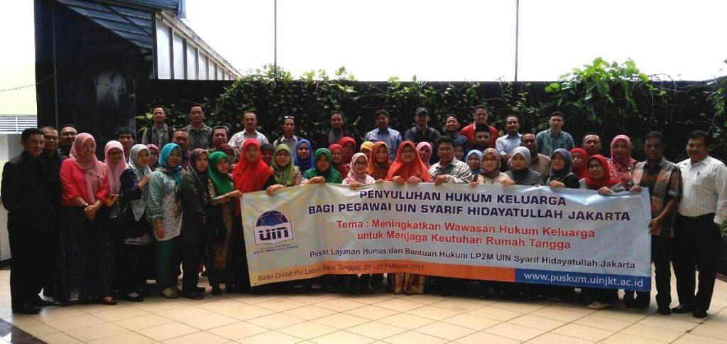 PLHBH UIN Jakarta Gelar Penyuluhan Hukum Keluarga Bagi Pegawai