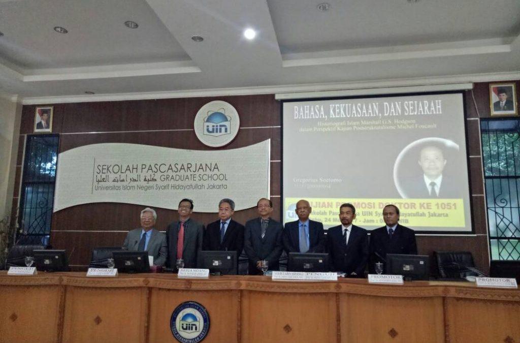Romo Katolik Raih Doktor dari UIN Jakarta