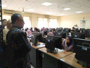 Rektor Tinjau Pelaksanaan Ujian Tulis SBMPTN