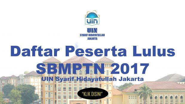 Link Daftar Peserta Lulus SBMPTN 2017 http://www.uinjkt.ac.id/wp-content/uploads/2017/06/PESERTA_LULUS-SBMPTN-2017-UIN-SYARIF-HIDAYATULLAH-JAKARTA.pdf