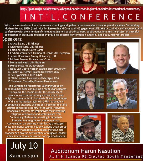 LP2M-Contending Modernities Gelar Konferensi Beyond Coexistence in Plural Societies