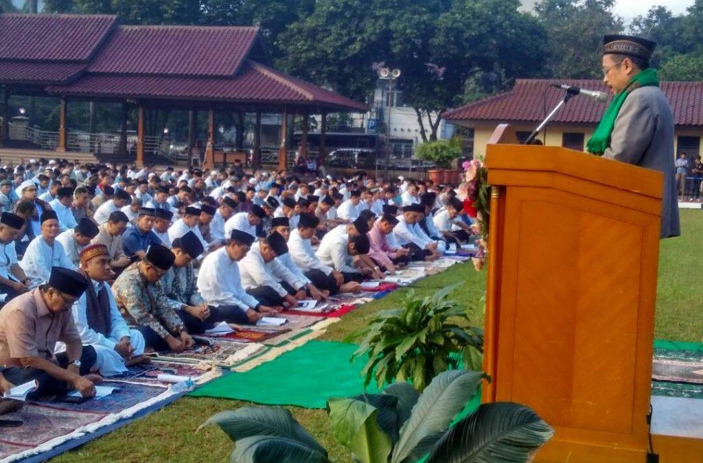 Khutbah Warek UIN Jakarta Ingatkan Polri Jaga Profesionalisme