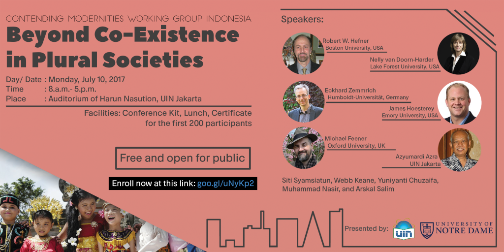"LP2M UIN Jakarta Will Held ""Beyond Co-Existence in Plural Societies"" Conference and Workshop"