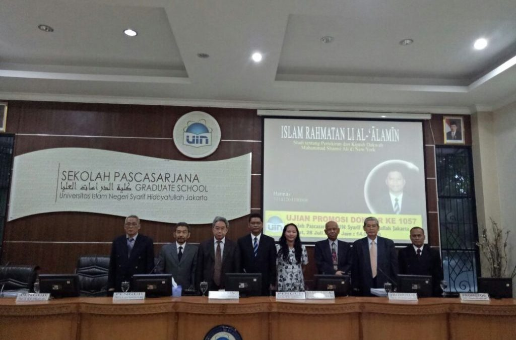 Kaji Dakwah Shamsi Ali, Pendeta Raih Doktor dari SPs UIN Jakarta