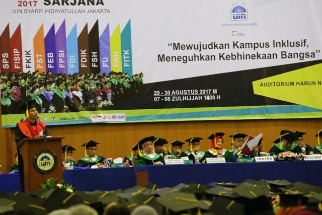 Pidato Wisudawan: Bangga Menjadi Lulusan UIN Jakarta