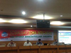 UIN Jakarta Socialize Zone of Integrity