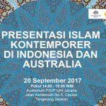 Kedutaan Besar Australia dan Universitas Islam Negeri Syarif Hidyatullah Mempersembahkan Seminar Islam Kontemporer