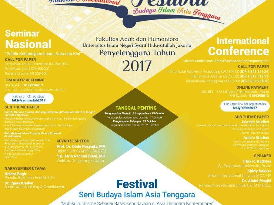 FAH UIN Jakarta Will Organize Southeast Asian Islamic Culture Arts Festival