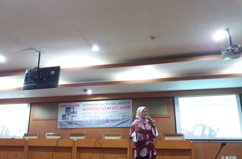 Festival Integritas Kampus 2017, Mahasiswa UIN Jakarta Luncurkan Laman Transparansi