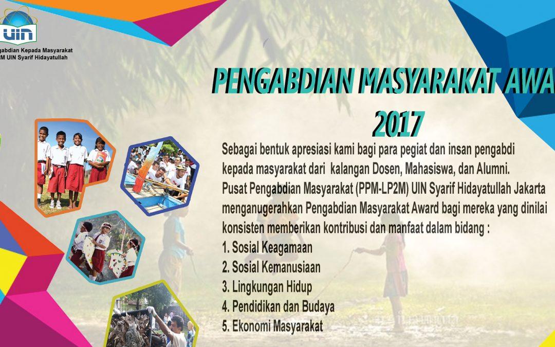 Pengabdian Masyarkat Award 2017