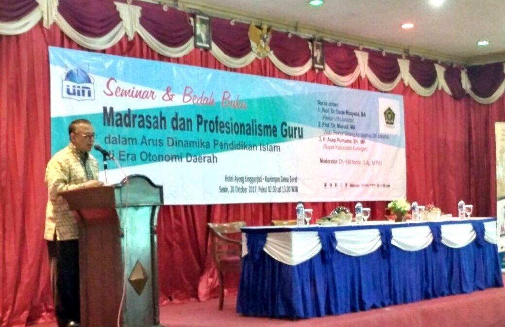 """Rektor: Madrasah Sebagai Pelengkap """"Sekolah Umum"""""""