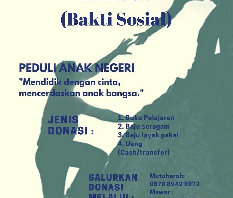 Peduli Anak Negeri, Formabi UIN Jakarta Gelar Baksos di Banten