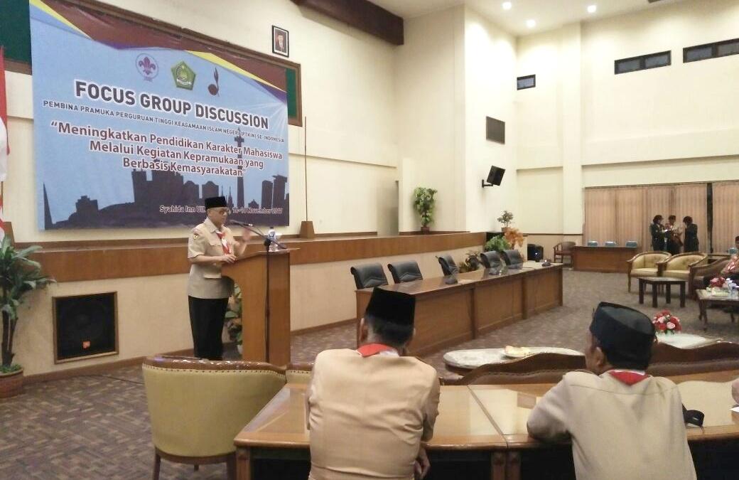 Rektor Buka Forum Pembina Pramuka PTKIN se-Indonesia