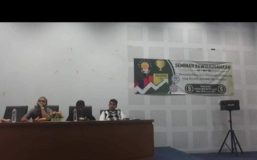 HMJ BSA UIN Jakarta adakan Seminar Kewirausahaan