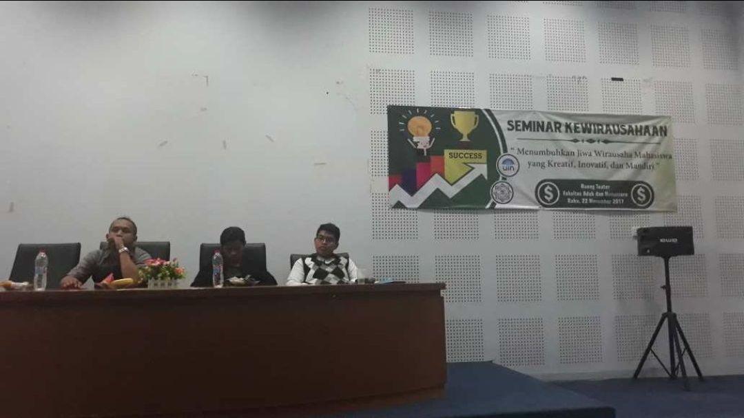 HMJ BSA UIN Jakarta Helat Seminar Kewirausahaan