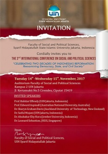 The 3rd International Conference on Social and Political Sciences 2017 @ FISIP UIN Syarif Hidayatullah Jakarta