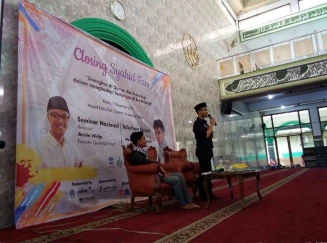 Talk Show LDK Syahid UIN Jakarta Kenalkan Qur'anIDproject