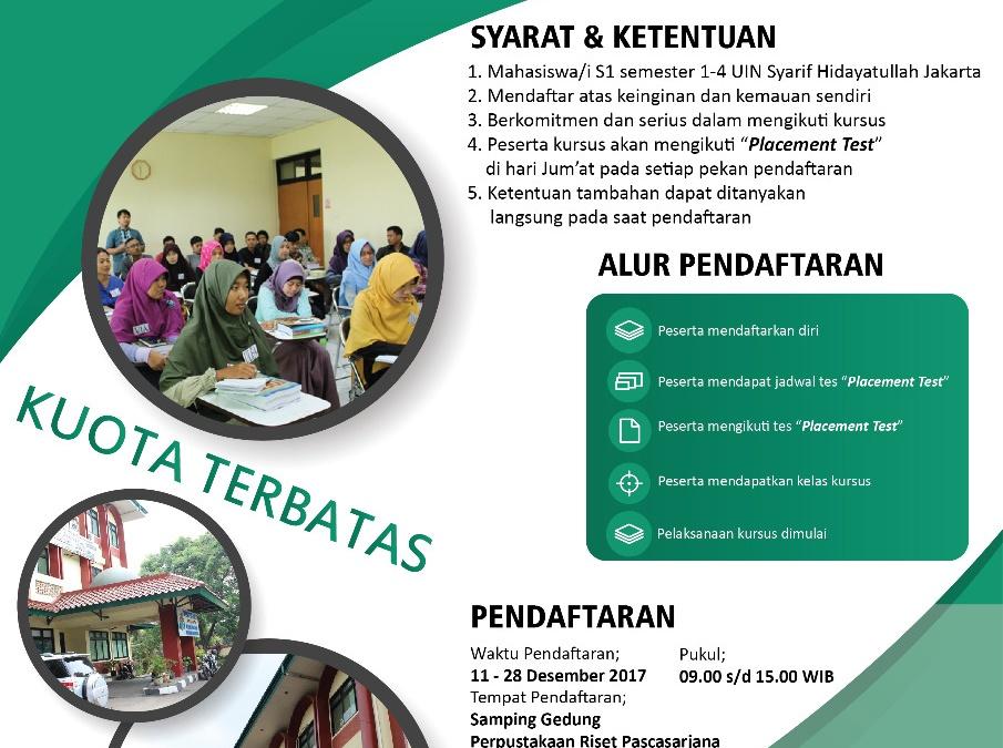 PPB UIN Jakarta Buka Kursus Bahasa Asing Gratis